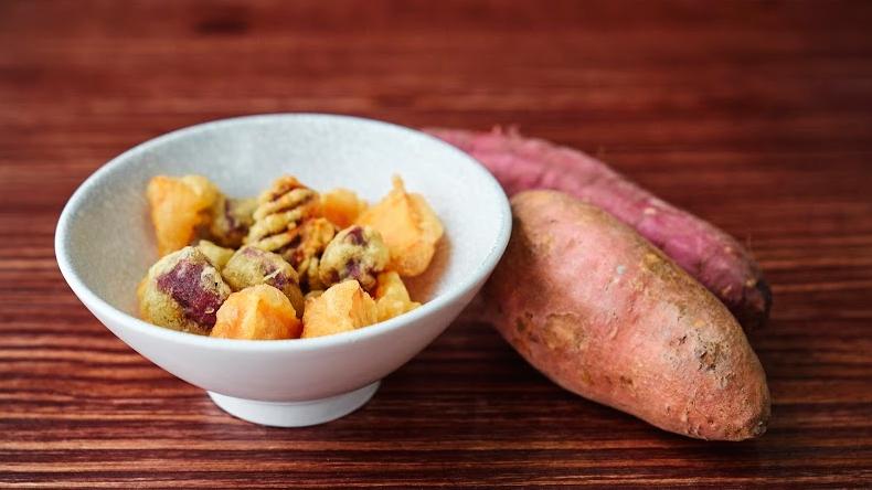 Fried Sweet Potato Cubes 香炸紫薯地瓜