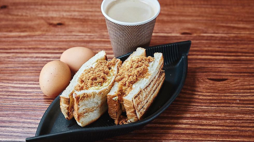 Pork Fillet PorkFloss Egg Toast 蜜汁猪排肉松蛋吐司