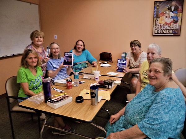 Karen Brown's book club.JPG