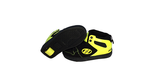 HEELYS FLASH BOOT BLACK YELLOW