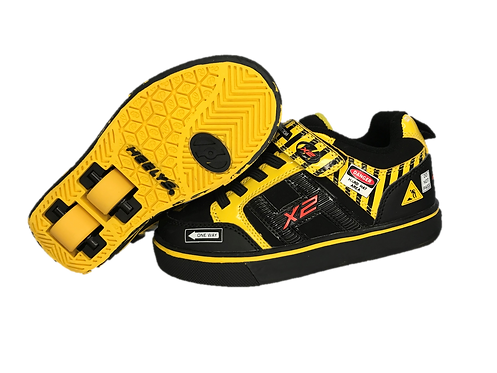 HEELYS BOLT X 2 BLACK AND YELLOW