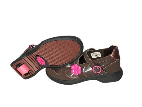 HEELYS PRETTY PINK FLORAL AND BROWN