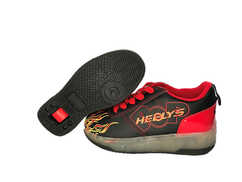 HEELYS POP DASH LIGHTED RED AND BLACK