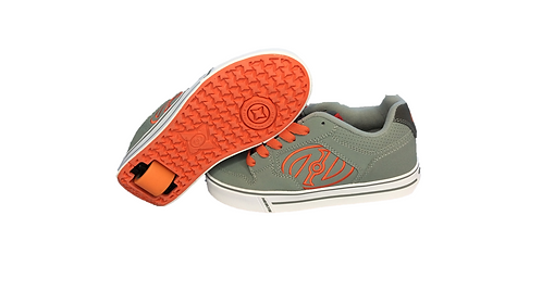 HEELYS MOTION GREY AND ORANGE