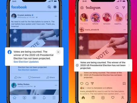 """Facebook e Twitter """"marcarão"""" postagens de candidatos declarando vitória prematura"""