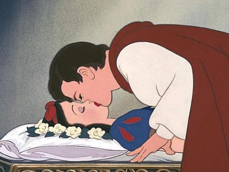 Branca de Neve e o beijo.
