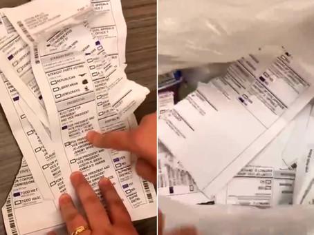 Cédulas com votos para Trump encontradas no lixo em Igreja de Oklahoma