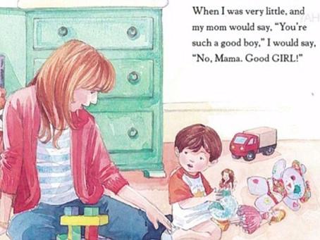 Professora lê livro sobre transgenêros para crianças.