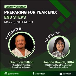 Client Workshop - Preparing for Year end: End Steps