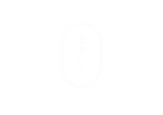 The Botanist and the Bee - Logo Hand Whi