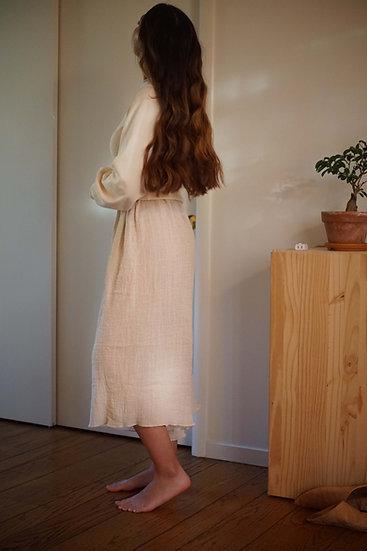 culotte in handwoven cotton