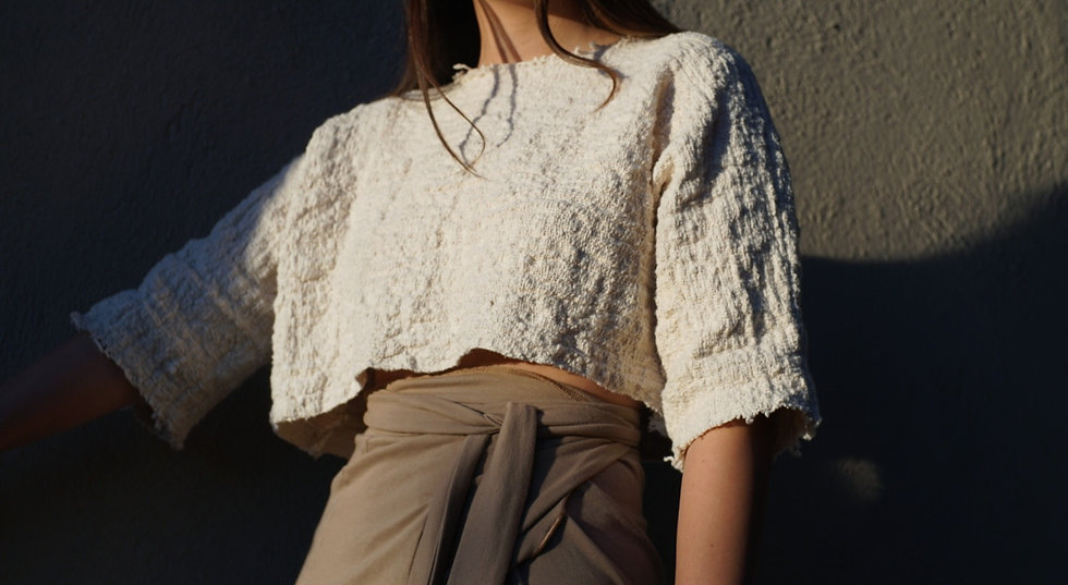 oveja top in handwoven cotton