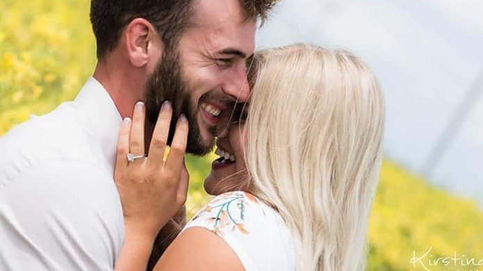 Squeeze, snuggle, smile #engaged #nebras