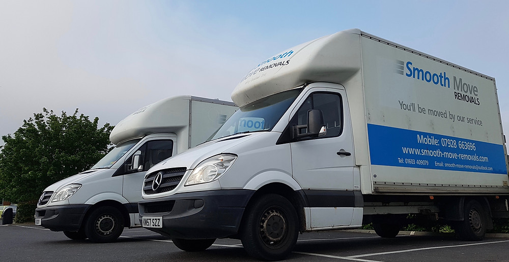 removal vans ready to move