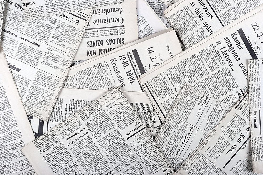 newspapers for packing materials