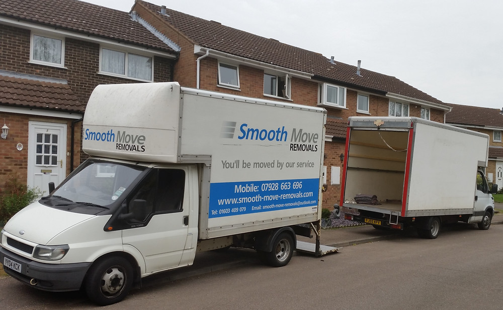 Norwich Removals Vans loading