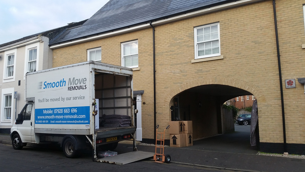 Removals van loading up