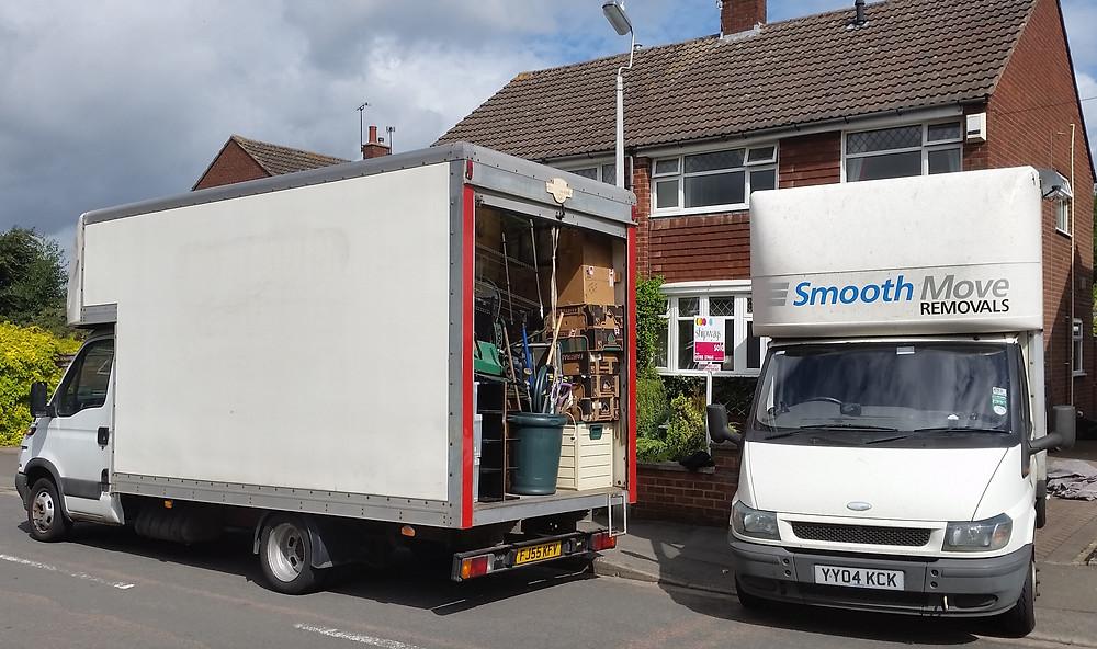 Removals Vans Loading up