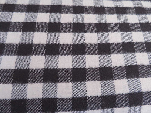 Black and White checkered flannel
