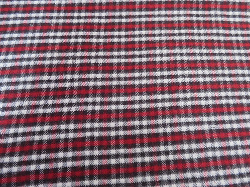 Red, White and Black Check - Flannel