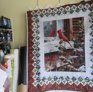 Christmas bird quilt