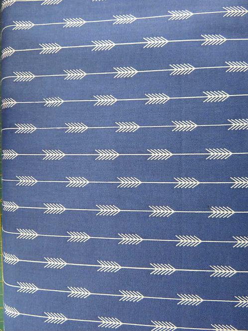 Grey arrows on blue backgound
