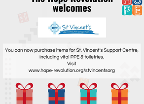 St. Vincent's Support Centre joins The Hope Revolution!