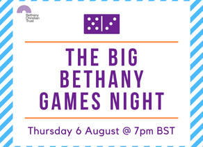 Bethany Trust plans an online games night that you can take part in!