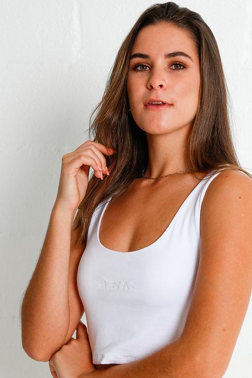 Women's Crop Top (White)