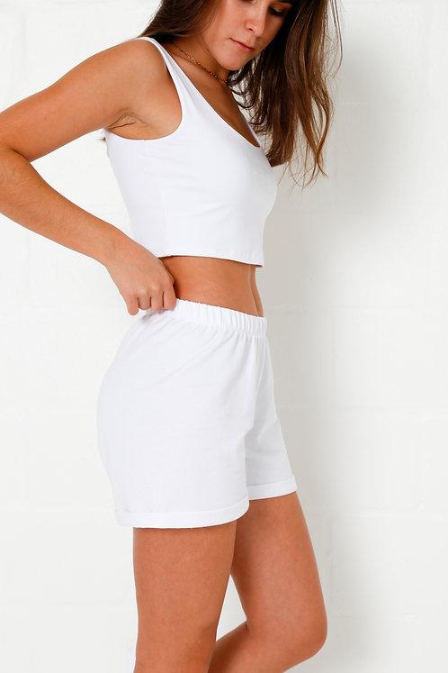 Women's Short Shorts (White)