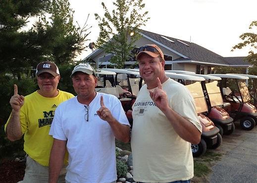 Darby Darrow, Perry Terrian, Paty Wyman after Hole In One Mackinaw Club