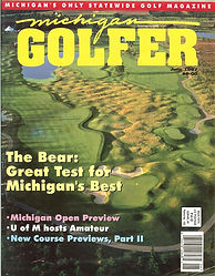 Michigan Golfer Magazine Cover featuring Mackinaw Club Golf Course