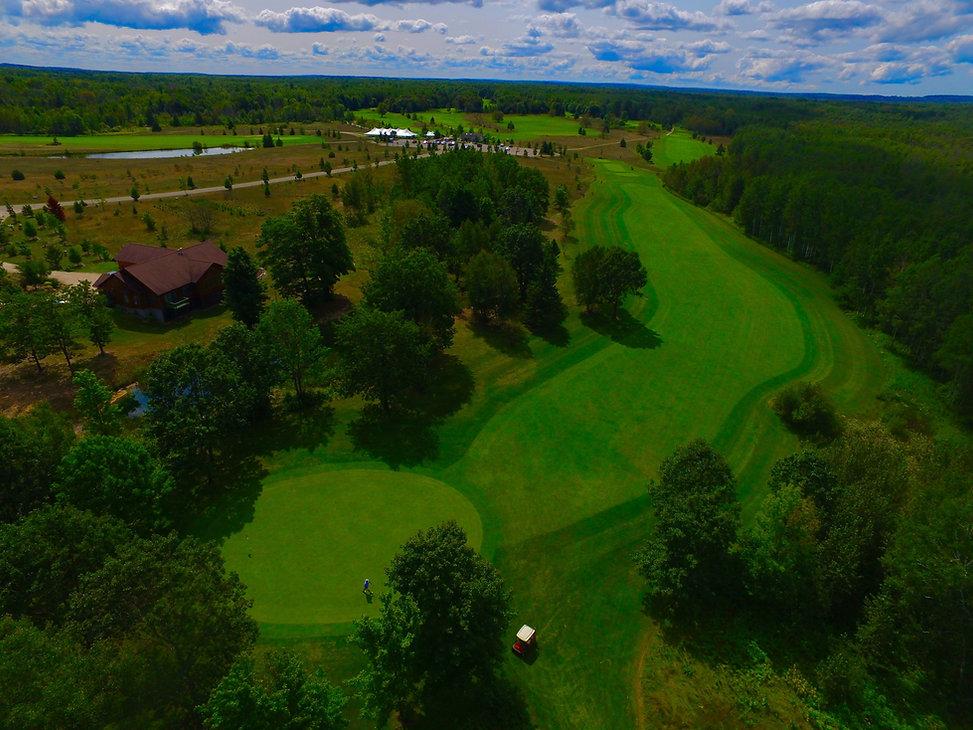 Birds eye view of Mackinaw Club Golf Course
