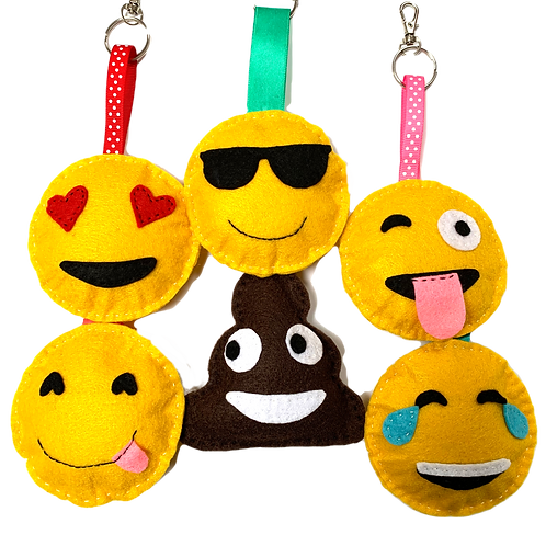 Emoji Keyrings 2-pack