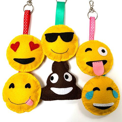 Emoji Keyrings 2-pack
