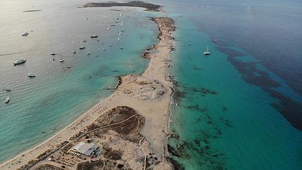 Ses Illetes beach - Aerial View - Formen