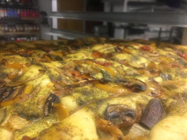 Chimichurri and veggies focaccia
