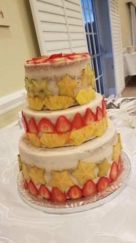 Coconut Pineapple, Vanilla Wedding Cake