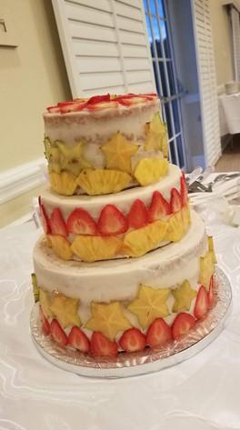 Coconut Pineapple, Vanilla Wedding Cake