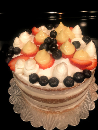 Vanilla Lemon, mixed Berries Cake