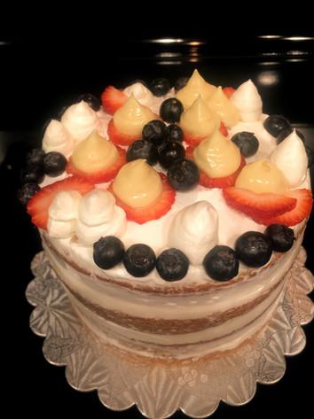 Vanilla Lemon, mixed Berries Cake