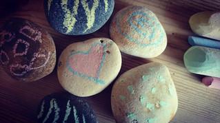 Story Stones - Using Chalk!