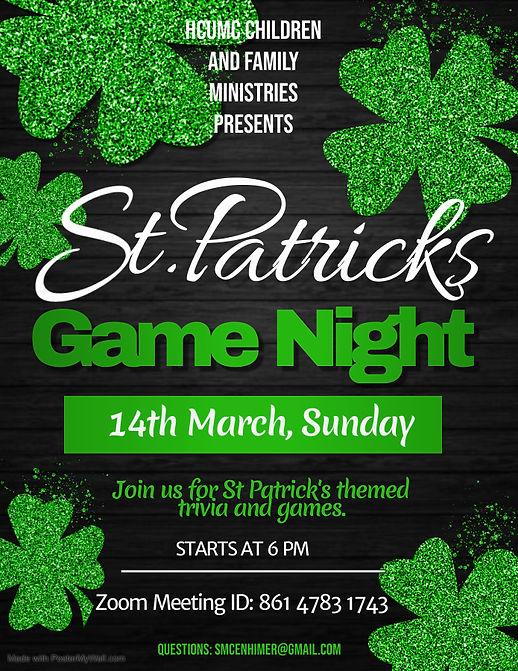 st patricks day game night flyer - Made
