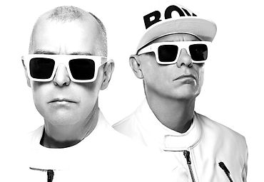 Musicians Pet Shop Boys and their headshot for the new musical MUSIK the Show