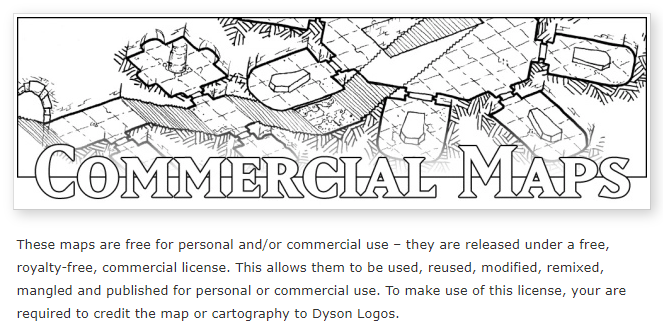 Header of Dyson Logos' commercial maps page.