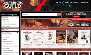 DM's Guild login page