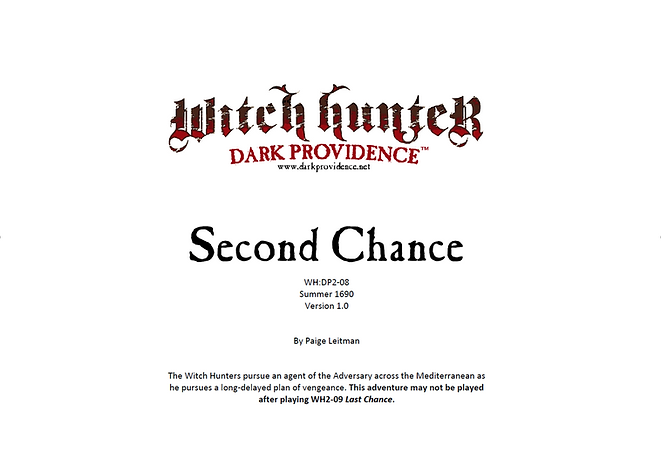 Witch Hunter Dark Providence Second Chance