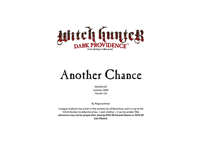 Witch Hunter Dark Providence Another Chance