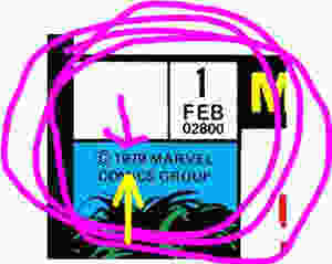 The date from She-Hulk #1 showing 1 FEB 1979