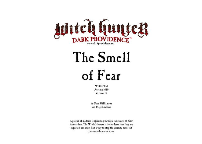 Witch Hunter Dark Providence The Smell of Fear